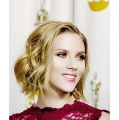 Pin for Later: Blobs (Blond Lobs) Are Having a Major Hair Moment Scarlett Johansson Another stunning actress proves you can be a sex symbol with short locks.