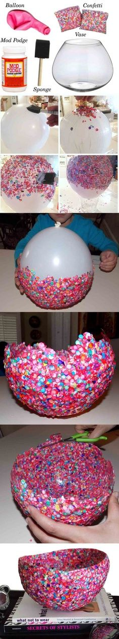 fun way to use scraps of paper as well as confetti