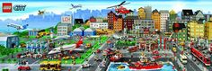 LEGO City Poster Giant 21x62 LICENSED Decorate childrens rooms kids room