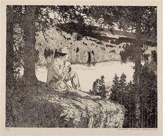 Rast auf der Wanderung by Klemens Brosch, Austrian Ink, Retro, Artist, Painting, Inspiration, Beauty, Biblical Inspiration, Artists, Painting Art