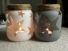 Creative DIY Mason Jar Decorations - Page 23 of 45 - VimDecor diy crafts, diy project, mason jars projects, diy and crafts mason jars Mason Jar Projects, Mason Jar Crafts, Diy Projects, Baby Food Jar Crafts, Project Ideas, Pot Mason Diy, Theme Noel, Mason Jar Lighting, Handmade Crafts