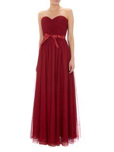 MASCARA Abendkleid aus Mesh mit Taillenband aus Satin in Taupe   FASHION ID Online Shop