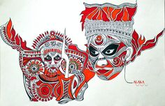 mY Abstract Theyyam.. :)