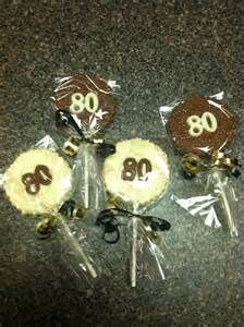 80th birthday party suckers   80th birthday party ideas   Pinterest