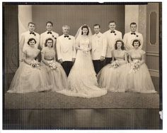 Vintage 8x10 Photo Pretty Bride & Groom, Wedding Party Portrait, 1950's, Jan16 | Collectibles, Photographic Images, Contemporary (1940-Now) | eBay!