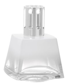 WHITE POLYGON Fragrance Lamp by Lampe Berger