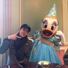 Sehun with Daisy duck - - {#exo #exok #exom #exol #sehun #suho #kai #lay #baekhyun #chanyeol #kyungsoo #xiumin #chen}