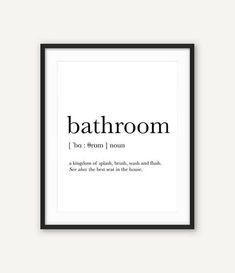 This Bathroom Signs, Bathroom Wall Art, Definition Wall Decor, Bathroom Art, Bathroom Poster, Rustic Bathroom, Funny bathroom signs, Printables is just one of the custom, handmade pieces you'll find in our digital prints shops.