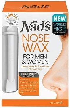Nad's Nose Wax Kit for Men & Women - Waxing Kit for Quick & Easy Nose Hair Removal Cellulite Wrap, Reduce Cellulite, Anti Cellulite, Cellulite Exercises, Underarm Hair Removal, Hair Removal Cream, Perfectly Posh, Vicks Vaporub Uses, Hair Cleanser
