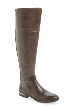 On SALE at OFF! 'pedra' wide calf over the knee boot by Vince Camuto. An over-the-knee silhouette is a dramatic, trend-savvy update to a rugged yet refined riding boot set on a stacked bl. Wide Calf Boots, Knee High Boots, Over The Knee Boots, Grey Boots, Women's Boots, Vince Camuto Shoes, Riding Boots, Fashion Shoes, Women's Fashion