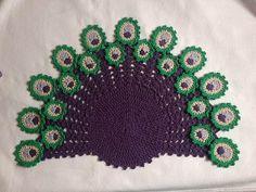 Toalha Pavão Peacock ( meia lua / leque) crochê - Professora Maria Rita - YouTube