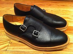 Black Pebble Grain Double Monk Strap by Mark McNairy New Amsterdam Double Monk Strap Shoes, New Amsterdam, Black Pebbles, Kicks, Oxford Shoes, Dress Shoes, Footwear, England, Fancy