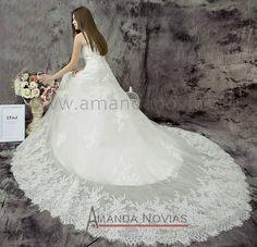 nova chegada elegante 2014 uma linha amanda novias vestido de casamento vestido photoes reais