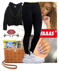 """"""""""" by msixo ❤ liked on Polyvore featuring H&M, Belkin, MCM, Acne Studios, Casetify, Yummie by Heather Thomson, Fremada, Smashbox and Ray-Ban"""