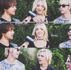 Ross Lynch and Rydel