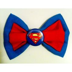 Superman/Supergirl Superhero Hair Bow Clip ($6) ❤ liked on Polyvore