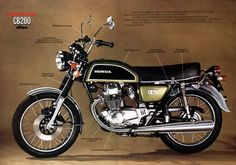 (1975) Honda CB200  I bought one of these when at college. thought I was the bees knees.