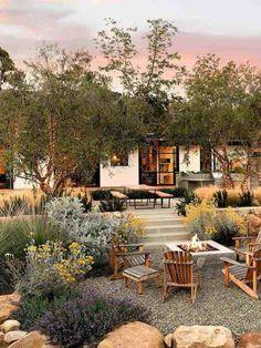 Design Exterior, Interior Exterior, Patio Design, House Yard Design, Front Yard Design, Home Garden Design, Outdoor Areas, Outdoor Rooms, Outdoor Kitchens
