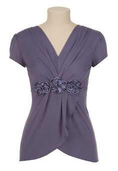 Maurices - crossover rosette top