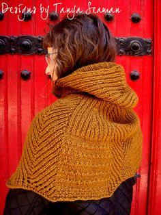 Ravelry: Yoked Cycling Cape pattern by Tanya Seaman