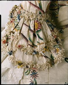 British Silk Robe à la Française, 1740's - Sleeve Detail