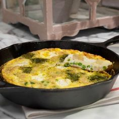 Fridge Frittata : True to its name, this quick-fix frittata takes advantage of all the goods you have in your refrigerator and freezer. Think deli ham, frozen peas and leftover potatoes — all work well in this easy egg dish. Top Recipes, Fall Recipes, Easter Recipes, Diabetic Recipes, Yummy Recipes, Katie Lee Food Network, Leftover Ham Recipes, Leftover Potatoes, Breakfast Frittata