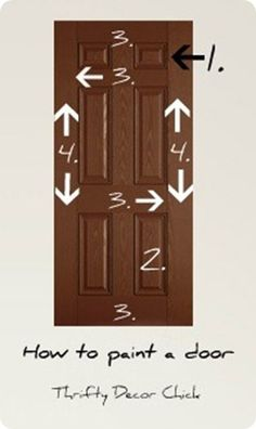 Great walk through on how to #paint a door