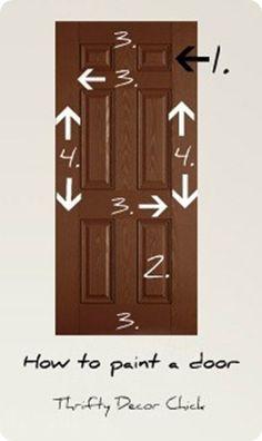 How to paint a door! #paint