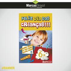 Banner – Sinhá Moça > Desenvolvimento de faixas e banner para o Dia das Crianças < #banner #marcasbrasil #agenciamkt #publicidadeamericana
