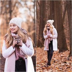 Juliette J. - White coat and photo session in the forest