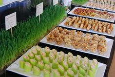 Great presentation of finger food by Delicious Events