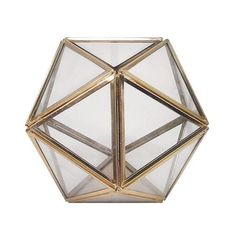 Planter:  Geometric Terrarium: Gold: Threshold, Bright Gold ($15) ❤ liked on Polyvore featuring home, home decor, floral decor, bright gold, threshold home decor, gold home accessories, handmade home decor, gold home decor and geometric home decor