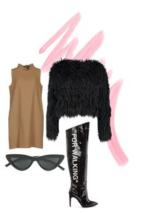 """Glooom"" by varvara2v on Polyvore featuring мода, Victoria's Secret, P.A.R.O.S.H., Off-White, Boohoo и Le Specs"