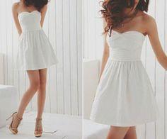 Pretty white dress #white #dress #alldressedup