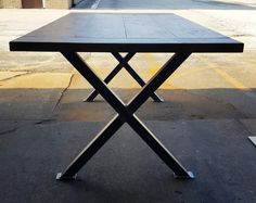 X - Table Legs, Model #TX02SC, Heavy  duty,  Sturdy X - Metal Legs, Industrial Legs, Dining Table  Leg Set