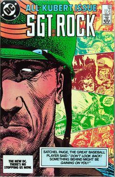 Original and final cover art by Joe Kubert from Sgt. Rock published by DC Comics, December Comic Book Characters, Comic Character, Comic Books Art, Comic Art, Fictional Characters, Show Me A Hero, Joe Kubert, Western Comics, War Comics