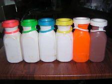 Vintage Fisher Price toys bottles, Milk, Chocolate Milk and Orange Juice Bottles