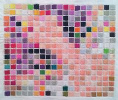 Grace McMurray Ellie Mosaic Embroidery. Thread. Organic, geometric and…
