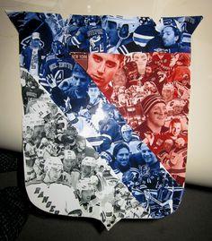 New York Rangers collage shield