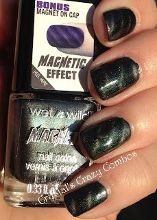 Crystal's Crazy Combos: Wet n Wild No-Gas Electrically Charged magnetic polish