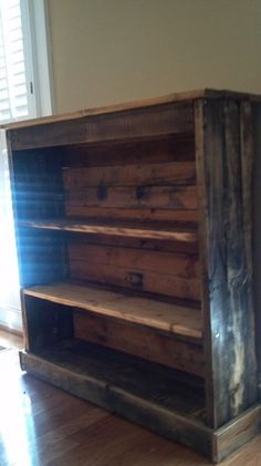 Bookcase made from pallets.... a total could do project!!