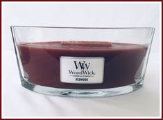 WoodWick Candle Redwood Scent Crackle As It Burns