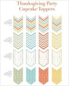 Free printable: Thanksgiving cupcake toppers