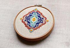 Geometric embroidery piece 1 cross stitch pattern pdf by Pumora