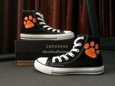 f802cac47409 Custom Orange Paw Print Converse Design Hand by AliceHandPainting. Converse  DesignCool ConversePainted ConverseCustom ConverseConverse All StarCustom  ...