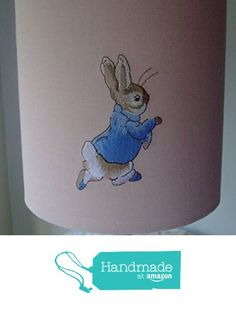 Beatrix Potter Peter Rabbit and Mrs Tittle Mouse - Embroidered Handmade Nursery table Lampshade 20cm Drum from Evie Eccles Handmade Lampshades https://www.amazon.co.uk/dp/B01MXCJA29/ref=hnd_sw_r_pi_dp_h-phyb2H100K0 #handmadeatamazon