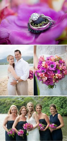 Intimate Navy and Pink Summer Beach Wedding in Hawaii - WeddingWire: The Blog