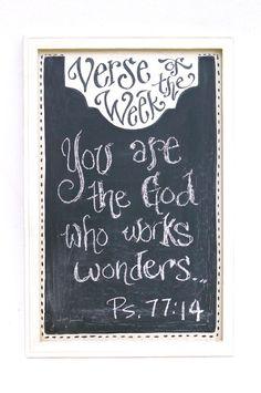 Verse of the Week Chalkboard - Vertical. $30.00, via Etsy.