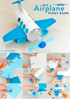 Pra aproveitar as garrafas de água e brincar muito! #brincadeiras #DIY