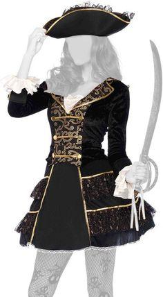 Leg Avenue Capitano d'alto mare - Costume Piratessa Deluxe
